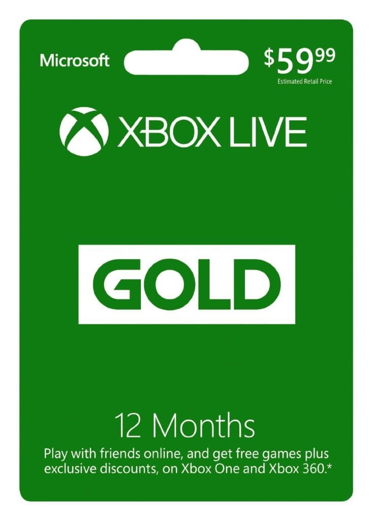 Xbox Live Gold Membership – Sale on 12 Month Card