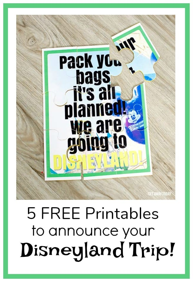 graphic relating to You're Going to Disneyland Printable named 5 Free of charge Printables By yourself Can Employ in the direction of Announce Your Disney