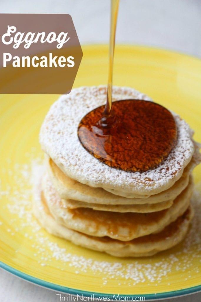 Eggnog Pancakes - An Easy Christmas Morning Breakfast Idea