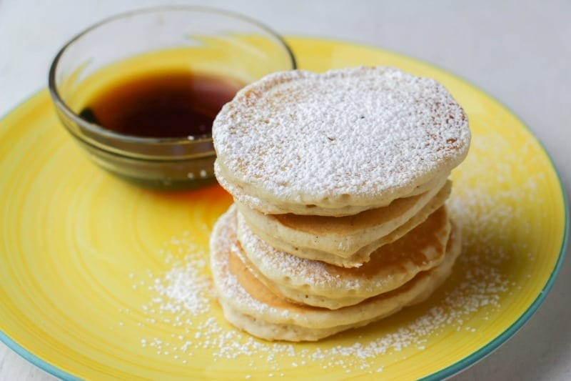 Eggnog Pancakes with Syrup