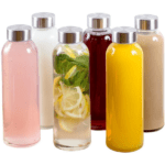 Glass Water Bottle 6 Pack