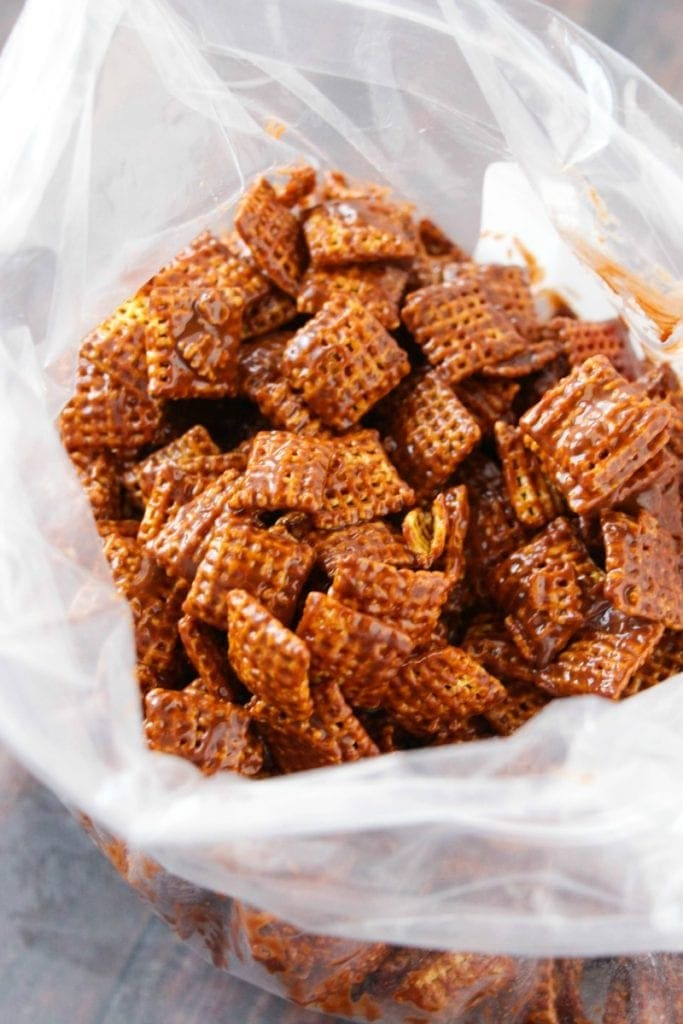 Chocolate Chex Mix in Bag