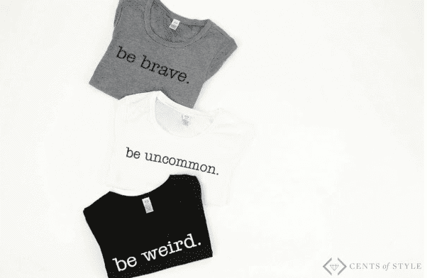 Be series shirts in black and white