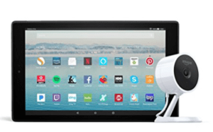 Fire HD 10 Tablet + Amazon Cloud Cam devices