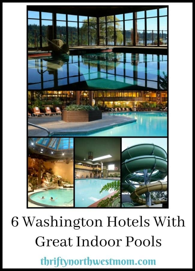 Check out these 6 Washington hotels with great indoor pools for kids, perfect for a vacation or staycation.