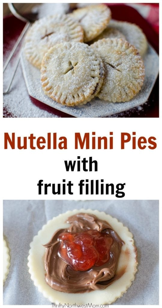 Nutella Mini Pies with Fruit Filling are a versatile dessert for any holiday. Kid-friendly or adults love them too!
