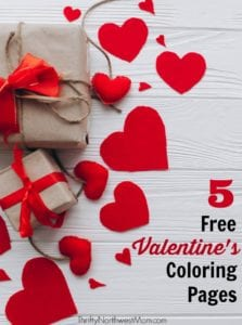 Use these 5 Free Valentines Coloring Pages for school parties, homeschool activities & transition activities for teachers.
