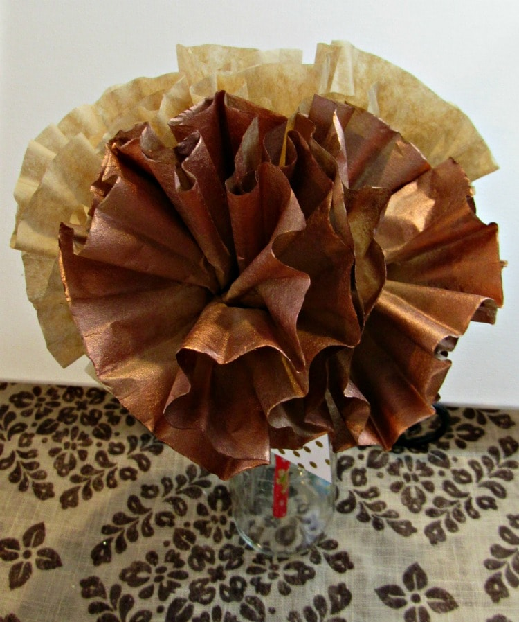 handmade paper flowers using coffee filters