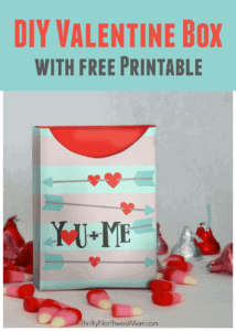 DIY Valentine Box with Free Printable