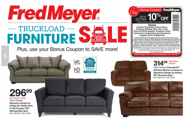 Fred meyer sofa sleeper refil sofa for Ashley lucia sofa chaise