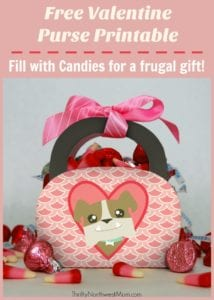 Print off this Free Valentine Purse Printable and fill with candies, stickers and more for a frugal gift idea for Valentine's Day