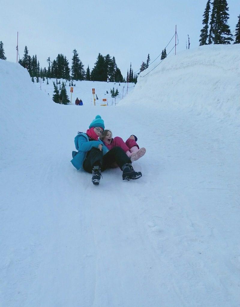 Make your own sledding fun at Mt Rainier