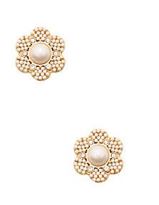Kate Spade Park Floral Stud Earrings on sale