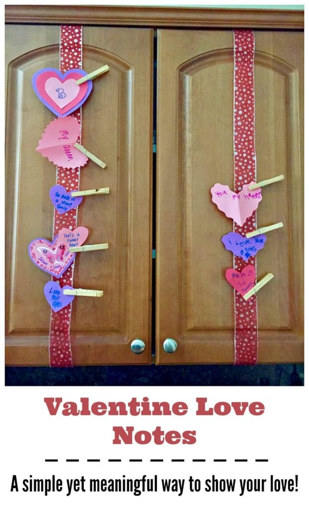 Valentine Love Notes are a simple and frugal yet meaningful way to show your love for your spouse and children at Valentine's Day.
