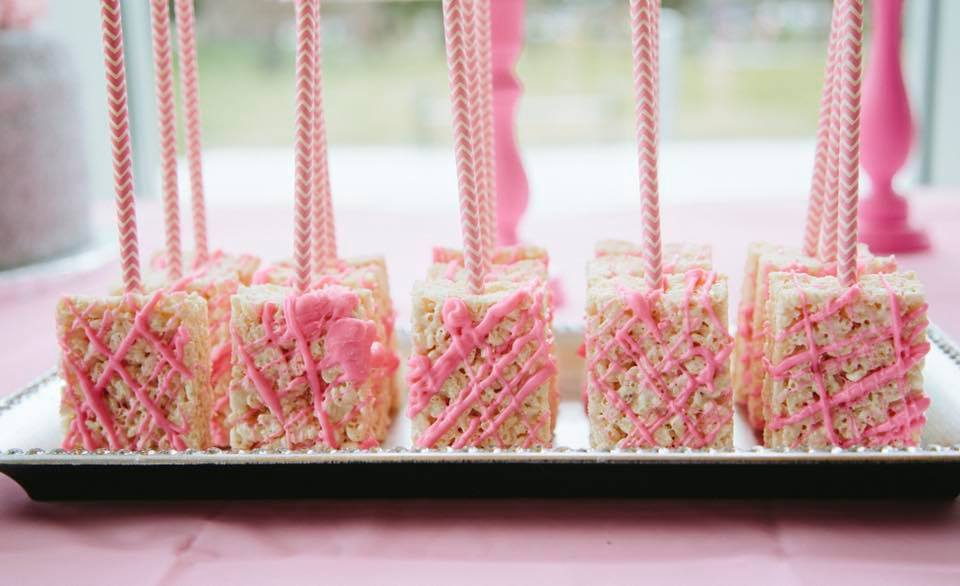 Pink Rice Krispy Treat Pops