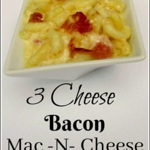 Bacon macaroni and cheese is a hearty dish that the whole family will love
