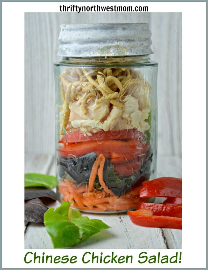 Chinese Chicken Salad Recipe Easy In A Jar Recipe Thrifty Nw Mom