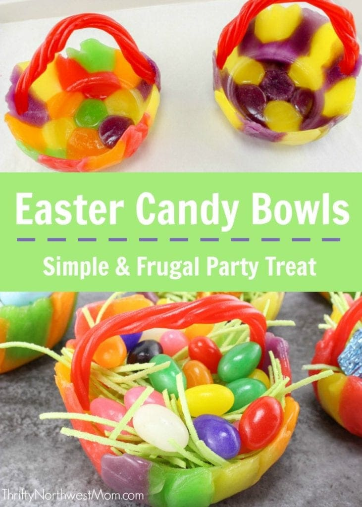 Easter Candy Bowls - Simple & Frugal Party Treat Perfect for Easter Dinner