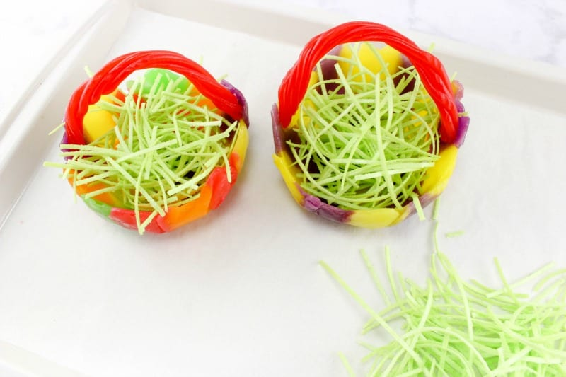 Easter Candy Bowls with Edible Grass