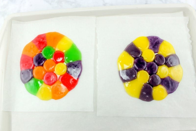 Making Candy Easter Bowls with Fruit Candy Discs
