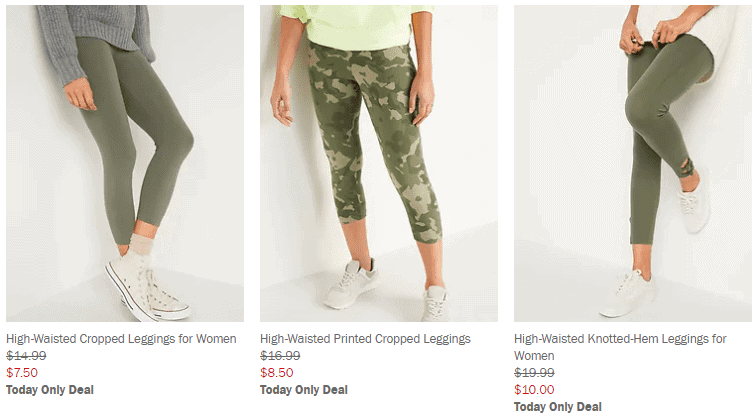 womens leggings on sale at Old Navy