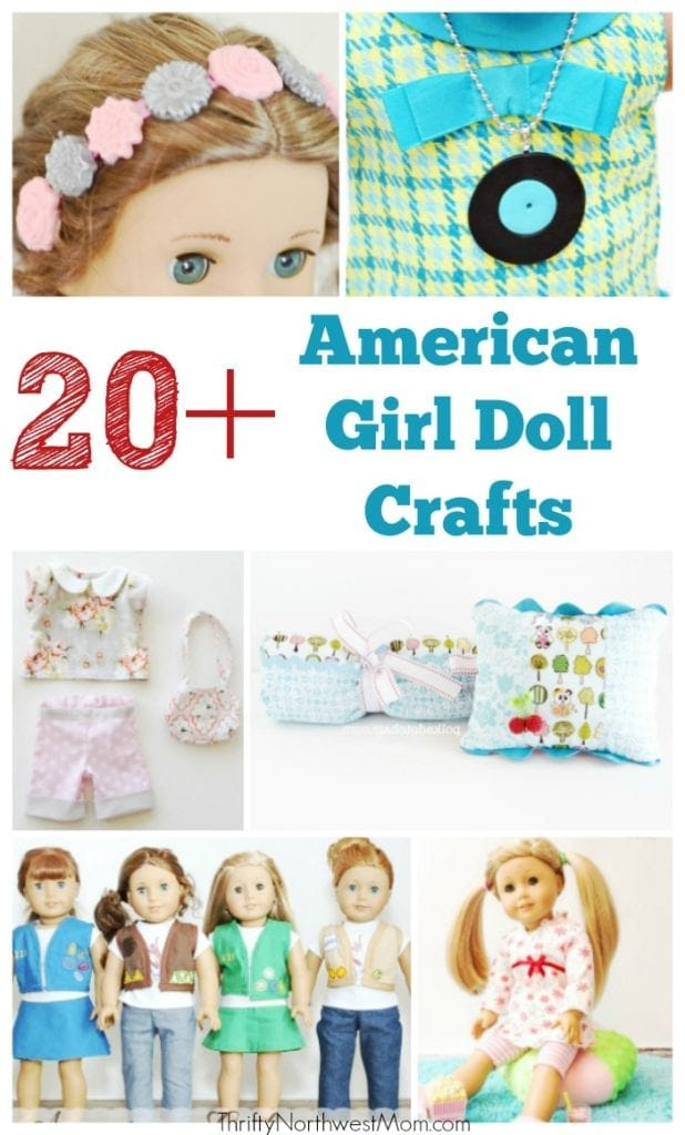 20 American Girl Doll Crafts For Your Dolls Thrifty Nw Mom