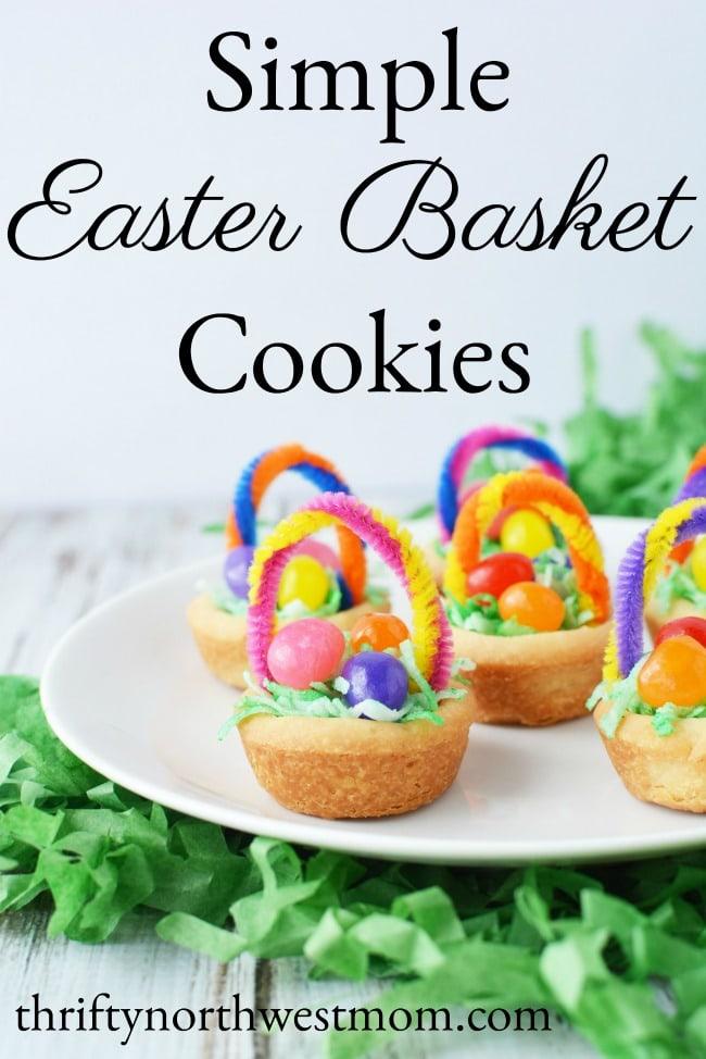 Simple Easter Basket Cookies