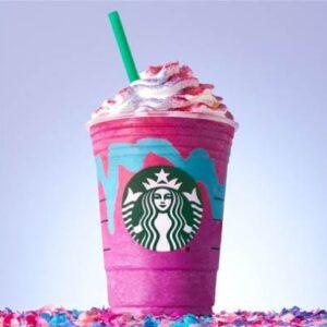 Starbucks Unicorn Frappucino Drink