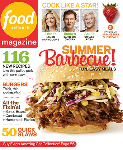 The Food Network Magazine 795 Year Subscription 80 Off