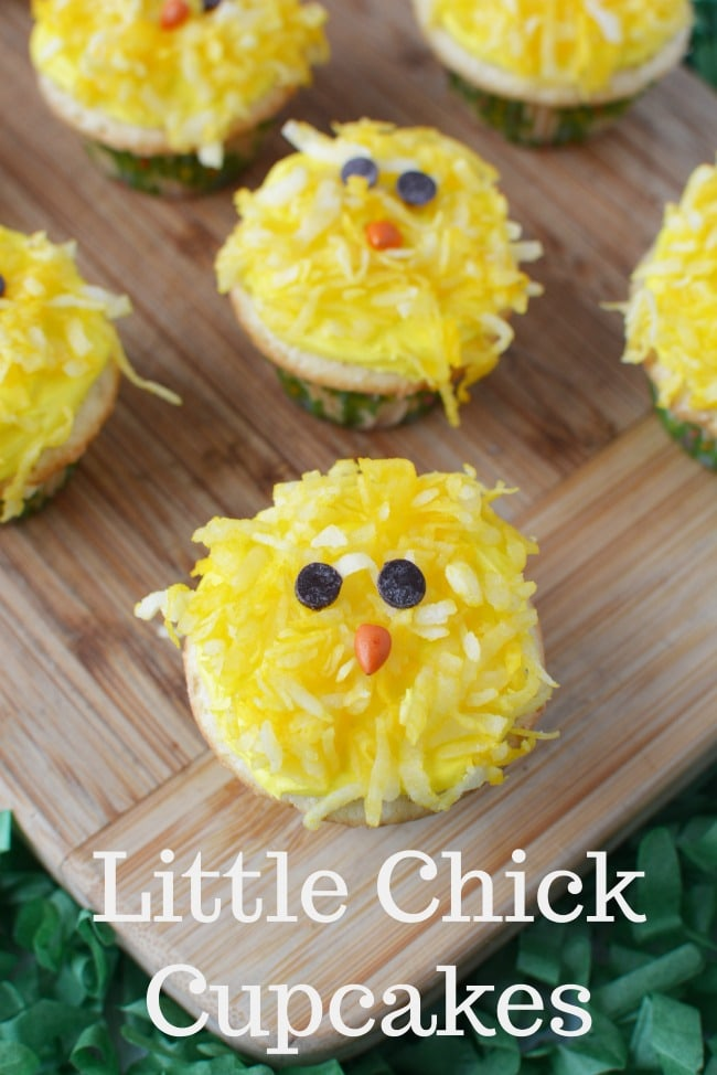 Easy Little Chick Cupcakes for Easter