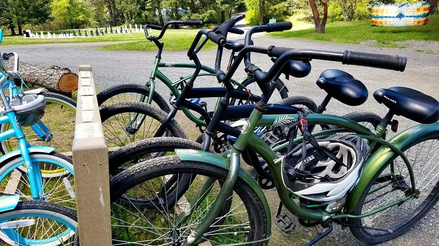 Bicycles to ride at Lakedale Resort