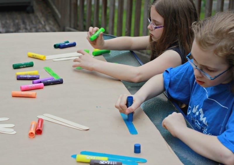 Fathers Day Frame with Kwik Stix Paint Sticks
