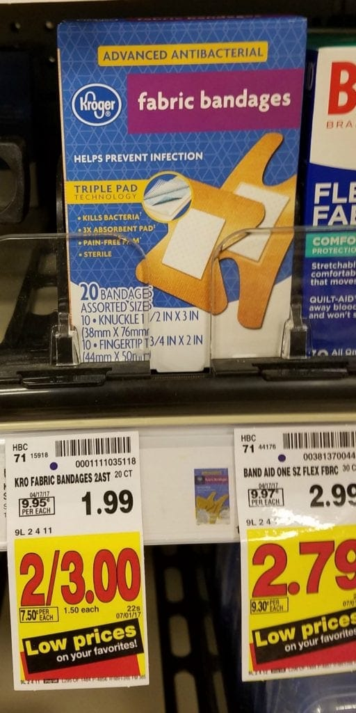 Flash Sale on Bandages at Fred Meyer