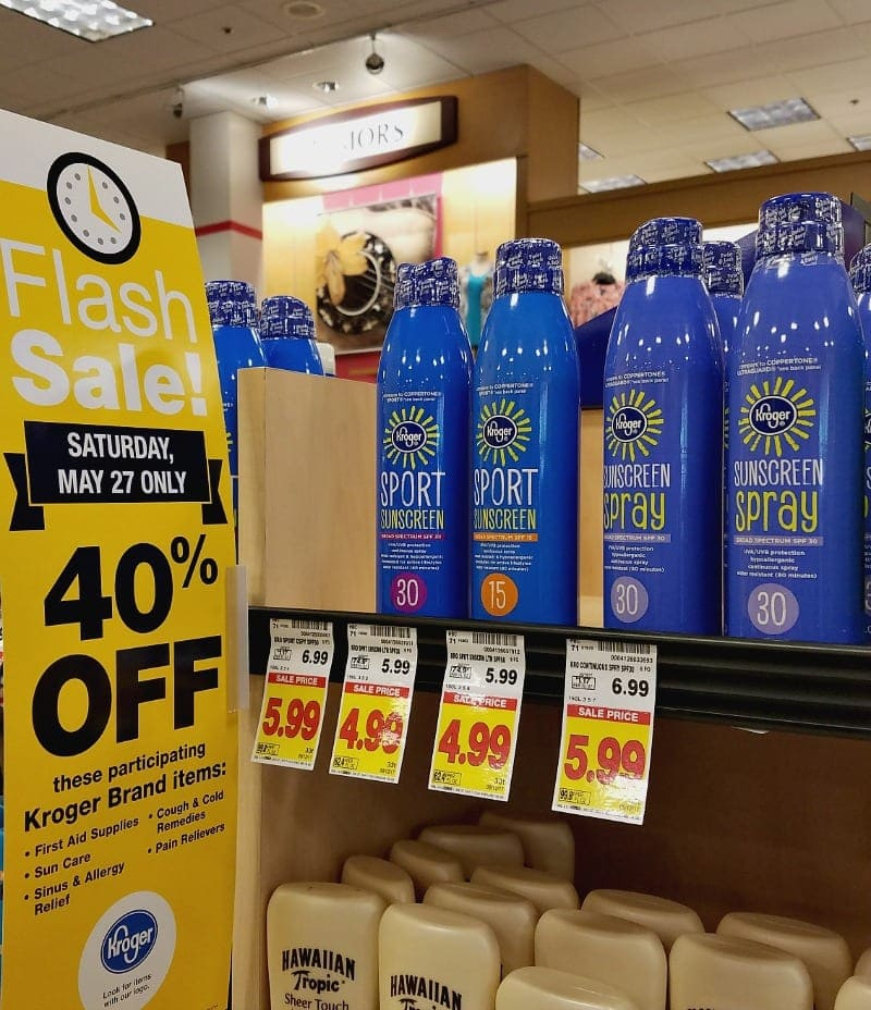 Fred Meyer Flash Sale on Sunscreen