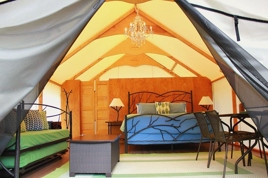 Glamping at Lakedale with a peek inside the Canvas Cottage