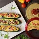 Mediterranean Stuffed Zucchini with Sabra Hummus