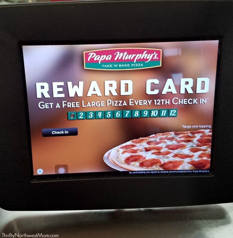 Papa Murphys Reward Card