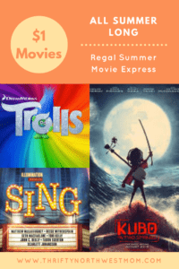 Regal Summer Movie Express 2017 List
