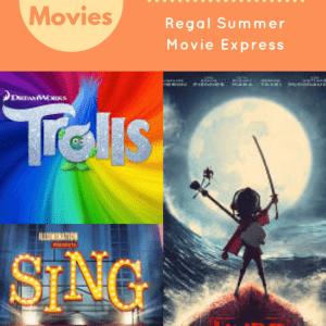 Regal Summer Movie Express 2017 List