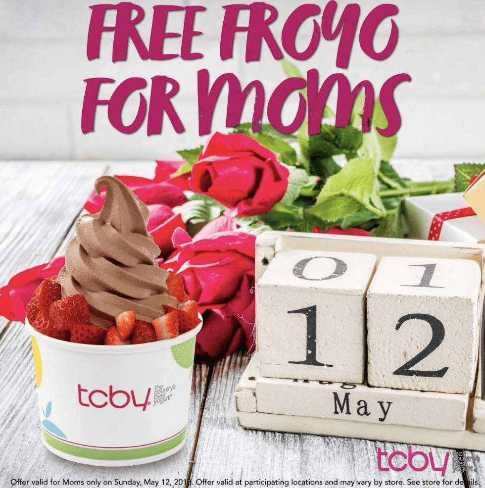 Free Froyo at TCBY for mothers day