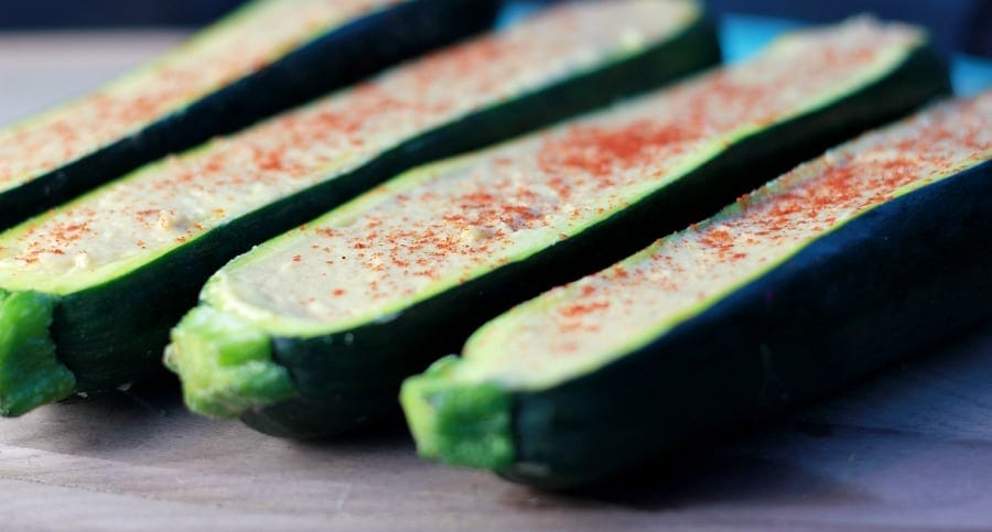 Stuffed Zucchini with Sabra Hummus