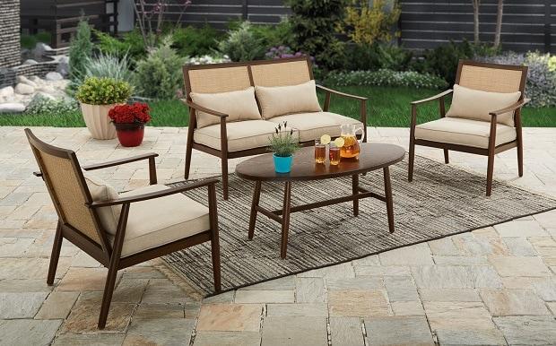 Vaughn 4-piece Outdoor Conversation Set $159 Shipped! Regular $449!