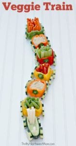Veggie Train - A Kid-Friendly Appetizer for Parties