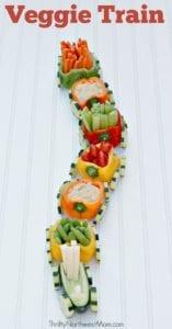 Veggie Train - A Kid-Friendly Appetizer for Parties
