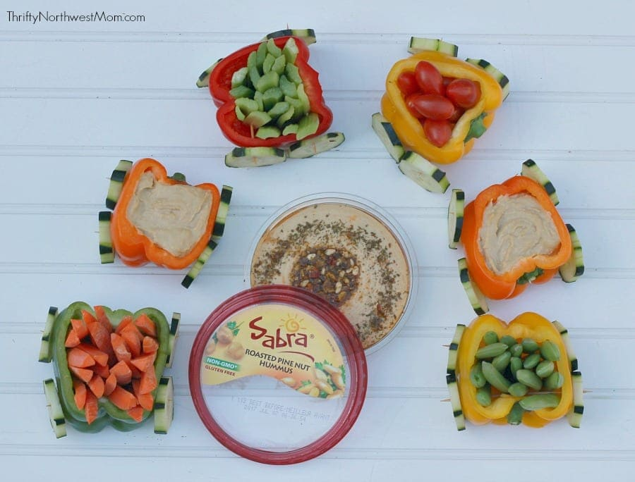 Veggie Train with Sabra Hummus