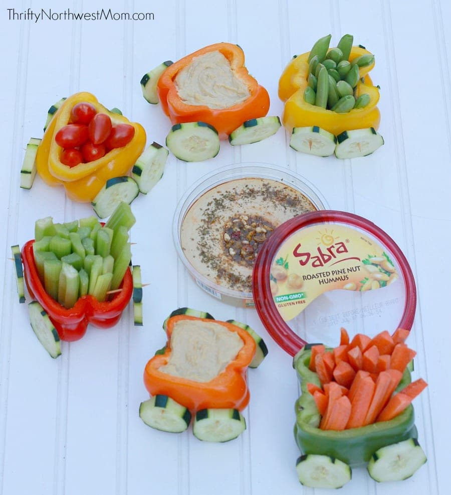 Veggie Train with Sabra Hummus Dip