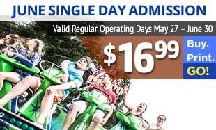 Wild Waves Spring Special – $16.99 Kids Tickets, $19.99 Regular Tickets – Spring Special
