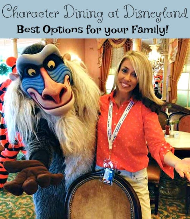 Disneyland Character Dining – What are the Best Options for Your Family?