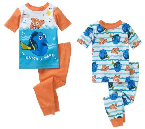 Finding Dory Toddler Boy Cotton Tight-Fit Pajamas 4-Piece Set