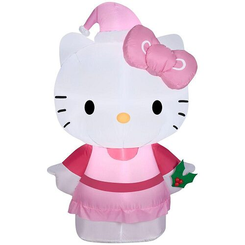 Inflatable Hello Kitty in Pink Outfit and Hat